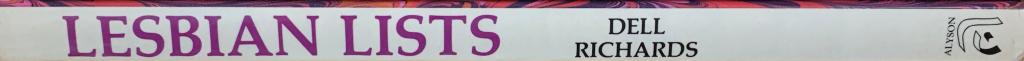 Book title: Lesbian Lists