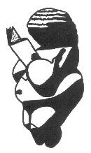 Venus of Willendorf holding a book between her breasts